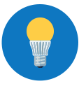 Icon of an LED light bulb